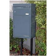 Safepost 45 Briefkasten mit Paketfach anthrazit