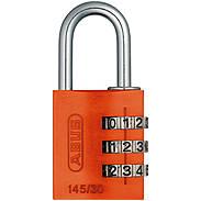ABUS Aluminium Zahlenschloss 145/30 orange