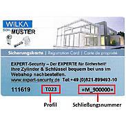 WILKA Carat S1 Nachzylinder nach Sicherungskarte