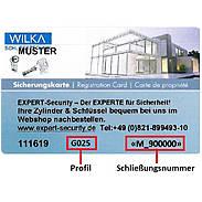 WILKA Carat S3 Nachzylinder nach Sicherungskarte