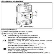 APS-412 Puffernetzteil 230V/4A/12VDC, Hutschiene
