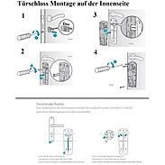 Somfy Smartes Bluetooth Türschloss, Türdicke 5-7cm