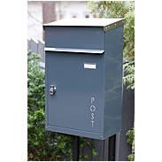 Safepost 854 TIAMAT Briefkasten anth + 2 Schlüssel