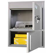 Safepost 921 TIAMAT Briefkasten mit Paketfach silb
