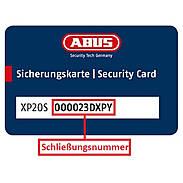 Abus XP20S Nachzylinder nach Sicherungskarte