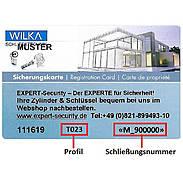 WILKA Carat S1 Nachschlüssel für Einzelschließung