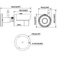 Dahua IPC-HFW1320SP-W-0280B IP-Kamera 3MPx T/N IR