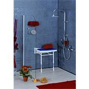 Dusch Polstersitz blau Sitzfläche 460x390mm