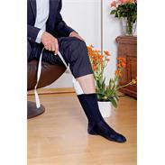 Strumpfanziehhilfe mit Handschlaufen weiß-blau