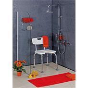 Kunststoff Duschstuhl U-Form weiß 400x380mm