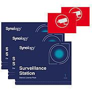 Synology Synology 3x Device License + 2x Videoaufkleber 50000064 Bild1