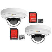 Domekamera Set 2x Axis M3045-V + 2x 32GB MicroSD