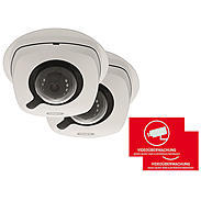 2er ABUS IP-Kamera Set IPCB42501 1080p + Aufkleber