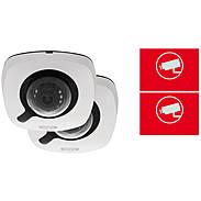 2er ABUS IP-Kamera Set IPCB42510A 1080p +Aufkleber
