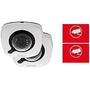 2er ABUS IP-Kamera Set IPCB42515A 1080p +Aufkleber