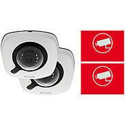 ABUS 2er IP-Kamera Set IPCB42551 1080p + Aufkleber