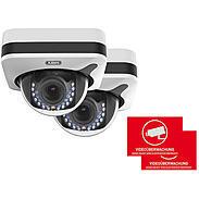 2er ABUS IP-Kamera Set IPCB72501 1080p + Aufkleber