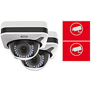 2er ABUS IP-Kamera Set IPCB72520 1080p + Aufkleber
