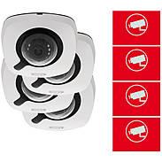 4er ABUS IP-Kamera Set IPCB42510A 1080p +Aufkleber