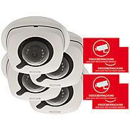 Abus 4er IP-Kamera Set IPCB42500 1080p + Aufkleber