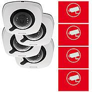 ABUS 4er IP-Kamera Set IPCB42551 1080p + Aufkleber