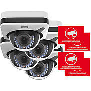 ABUS 4er IP-Kamera Set IPCB72501 1080p + Aufkleber