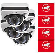 4er ABUS IP-Kamera Set IPCB72520 1080p + Aufkleber