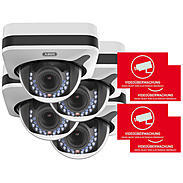 Abus 4er IP-Kamera Set IPCB72500 1080p + Aufkleber