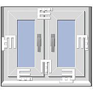 4er Set EM3 Riegel weiss Fenstersicherung