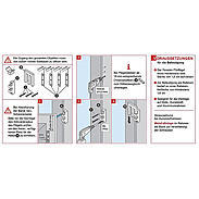 EM3 Riegel weiss Fenstersicherung - 8er Set