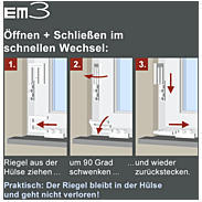8er Set EM3 Riegel quarzgrau Fensterriegel