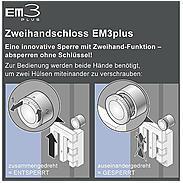 4er Set EM3plus Zweihandschloss