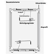 Alu-Fliegengitter Basic 120x140cm braun - 6er Set