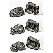 3er Set Stein mit Geheimfach für Schlüssel