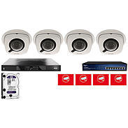 Abus Video Set 4x Abus IPCB42501 + 5-Kanal NVR