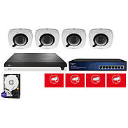 ABUS Video Set 4x ABUS IPCB42510A + 5-Kanal NVR