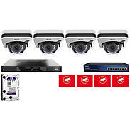 Abus Video Set 4x Abus IPCB72500 + 5-Kanal NVR