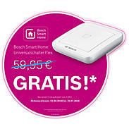 Bosch Smart Home Eyes Außenkamera + Warnaufkleber