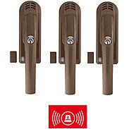 3er Set Abus FG300A B Alarm-Fenstergriff AL0125