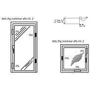 3er Set Abus FAS 101 S Fensterschloss silber