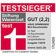 3er Abus GRWM30600 Rauchmelder+ Magnetbefestigung