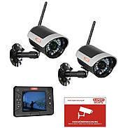 Abus Video-Set TVAC15001A Monitor+ 2x Funkkamera