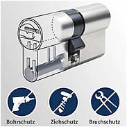 Abus Bravus 2000 MX Halbzylinder 30/10 5 Schlüssel