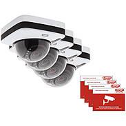 4er ABUS IPCA72500 IP-Dome 1080p T/N + Aufkleber