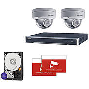 HIKVision IP Set 2x DS-2CD2185FWD-I + Rekorder