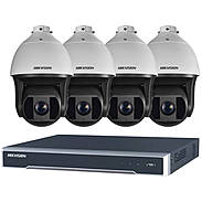 HIKVision IP Set 4x DS-2DF8236I-AEL + Rekorder