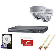 HIKVision IP Set2 2x DS-2CD2185FWD-I+ Rekorder