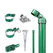 Zaunanschluss-Set 2S, grün, zA Ø60 1750 mm f. Tor