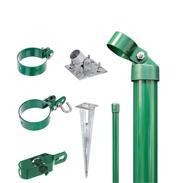Zaunanschluss-Set 2S, grün, zA Ø76 2000 mm f. Tor