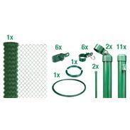 Maschendrahtzaun Set zE, grün, H. 1250 mm - 25 m